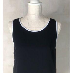 NWT Forever 21 Zipper Back Black Hi-lo Tank Dress